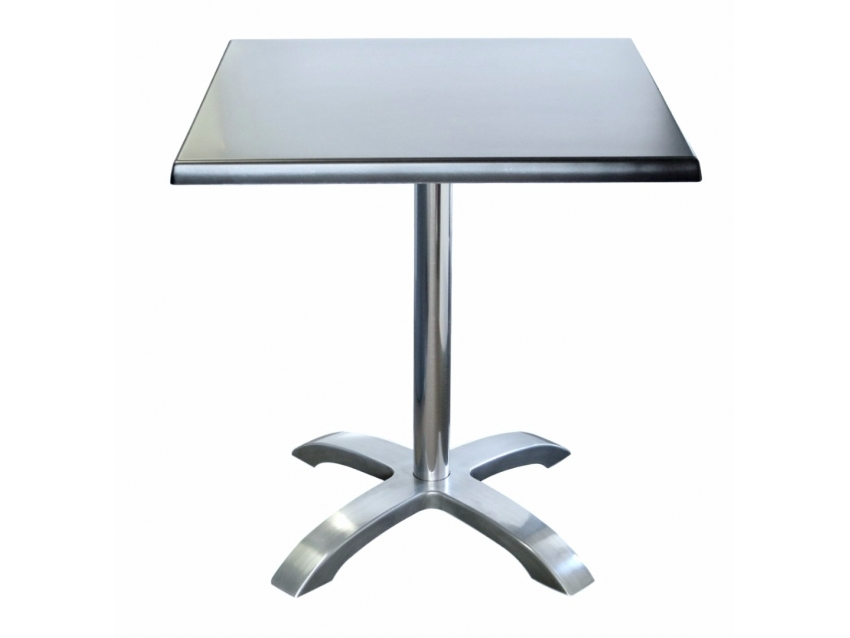 stainless table with white background