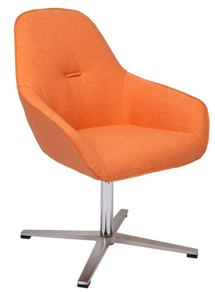 orange chair with 4 star alloy base