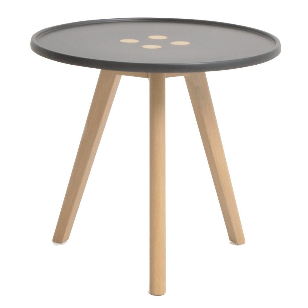 button motif side table tripod leg