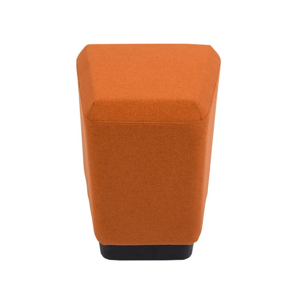 orange single ottoman