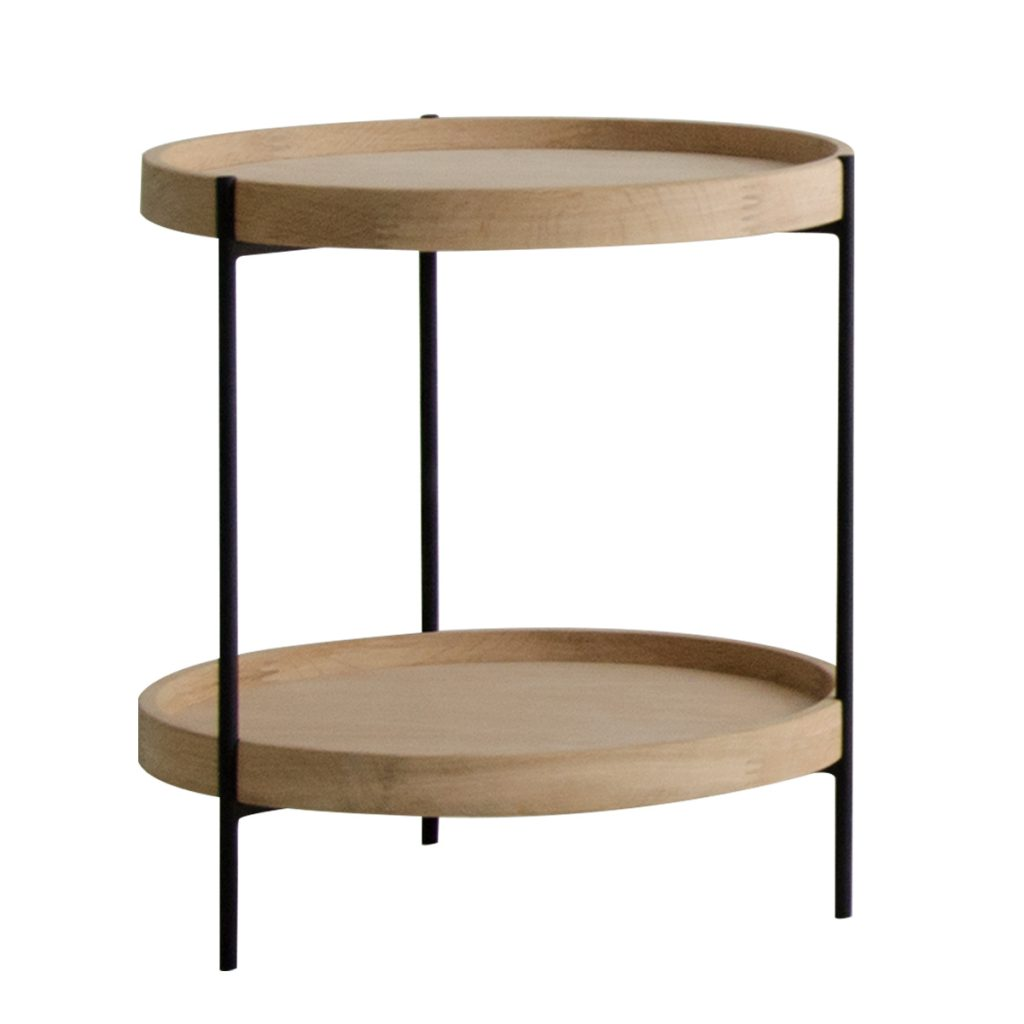 two layer round side table