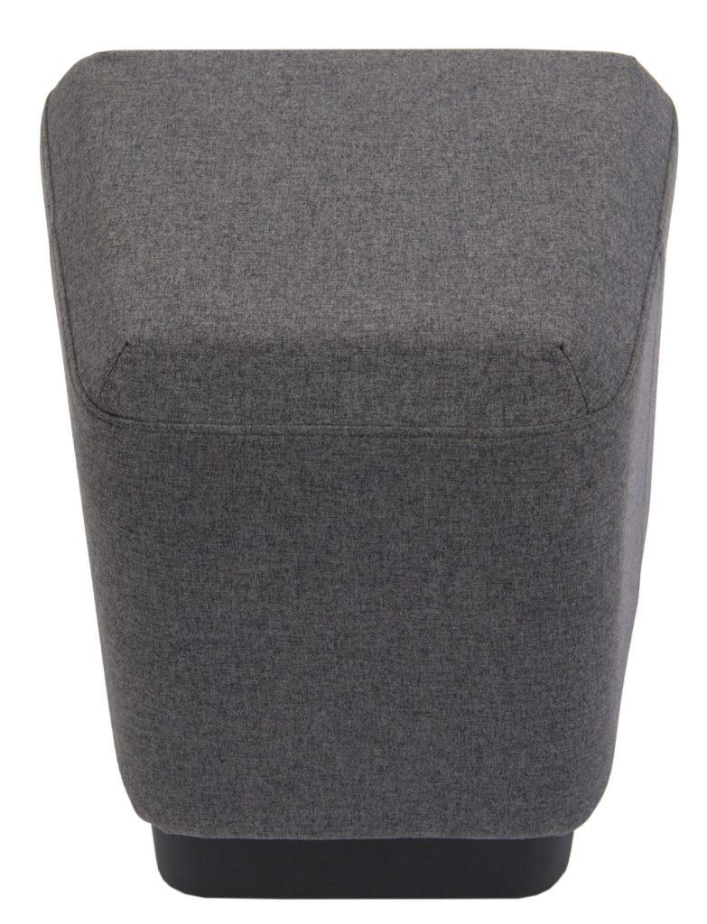 grey single ottoman