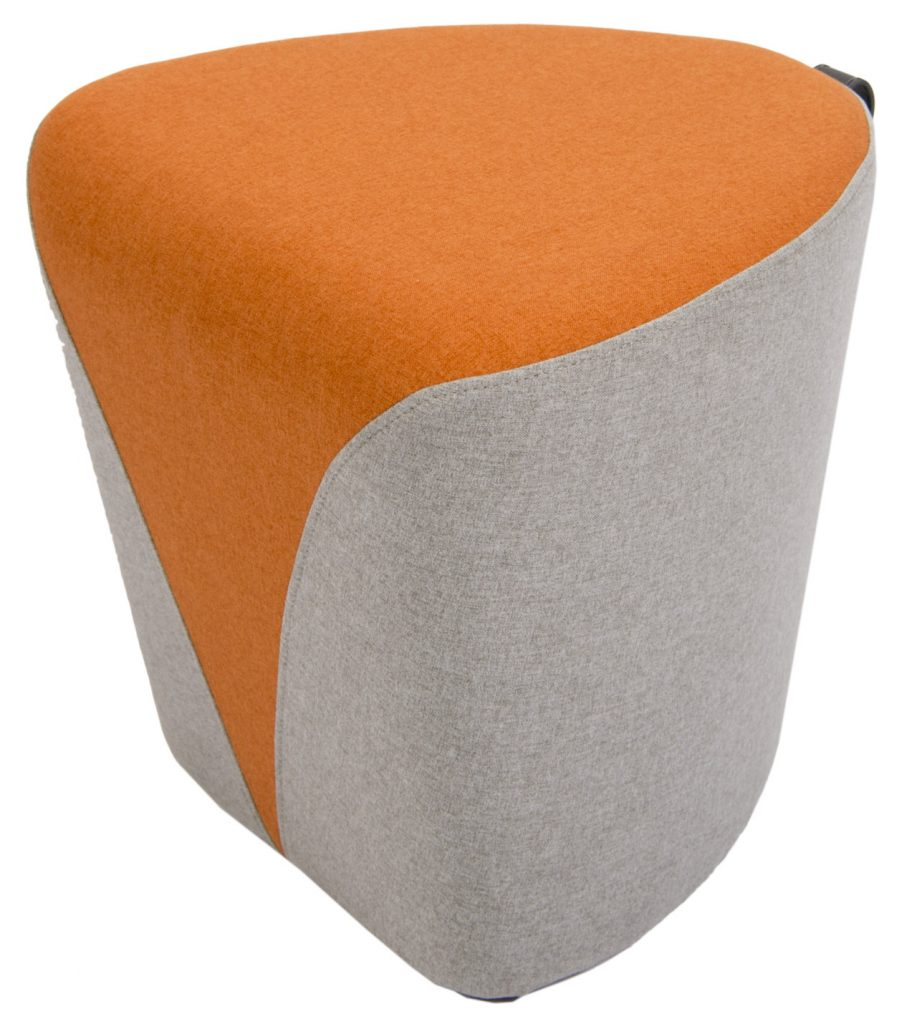 orange teacup ottoman