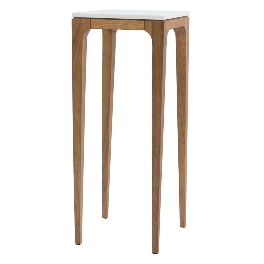 white top wooden hall table