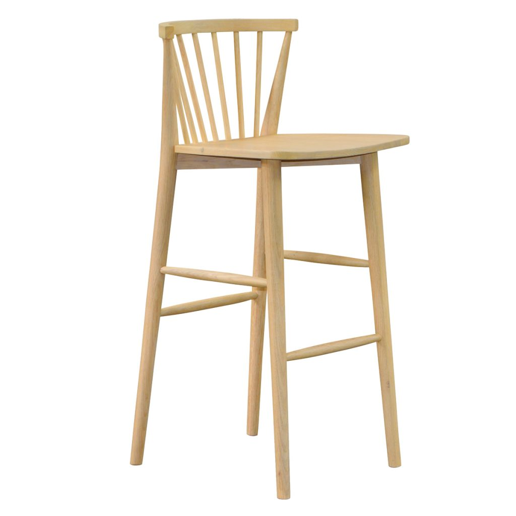 wooden stool chair made with oak