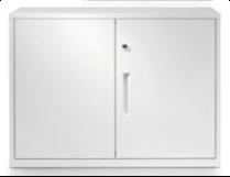 two door white storage
