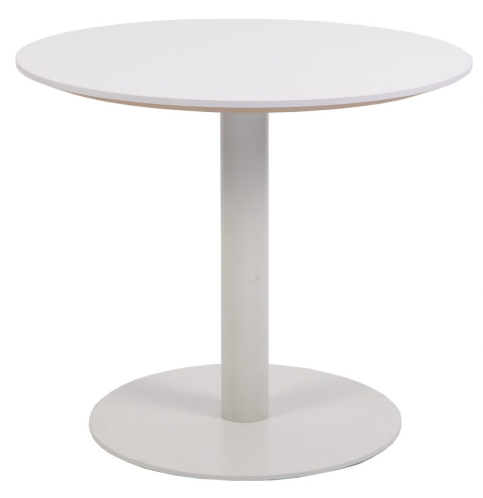 white round disk base side table