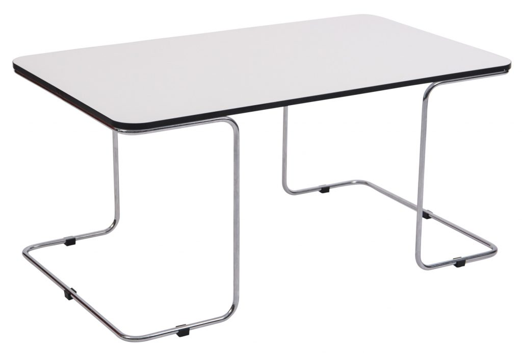 rectangular side table with metal base