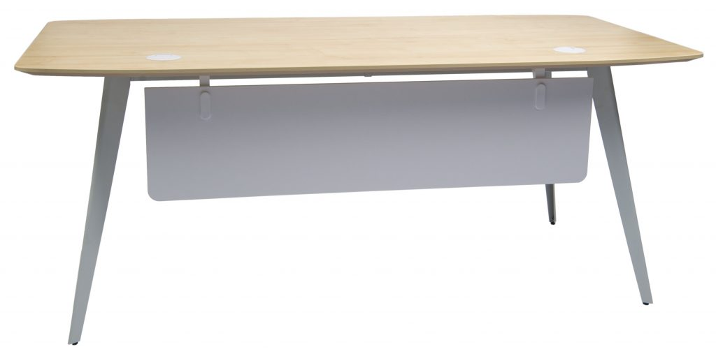 wooden rectangular table with four legs