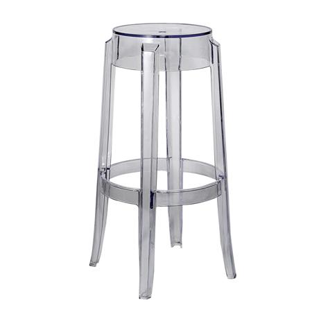 transparent crystal bar stool