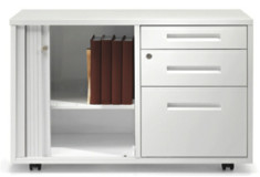 white storage with three books inside