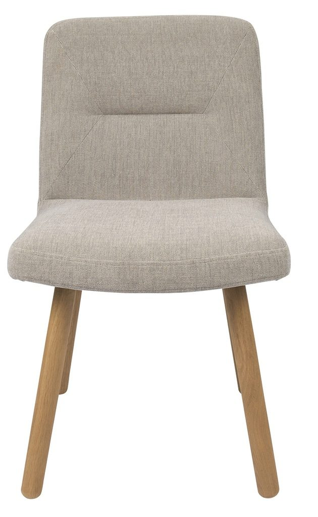 cream dining chair with wooden legs