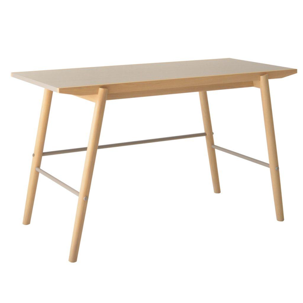 wooden desk with oak legs
