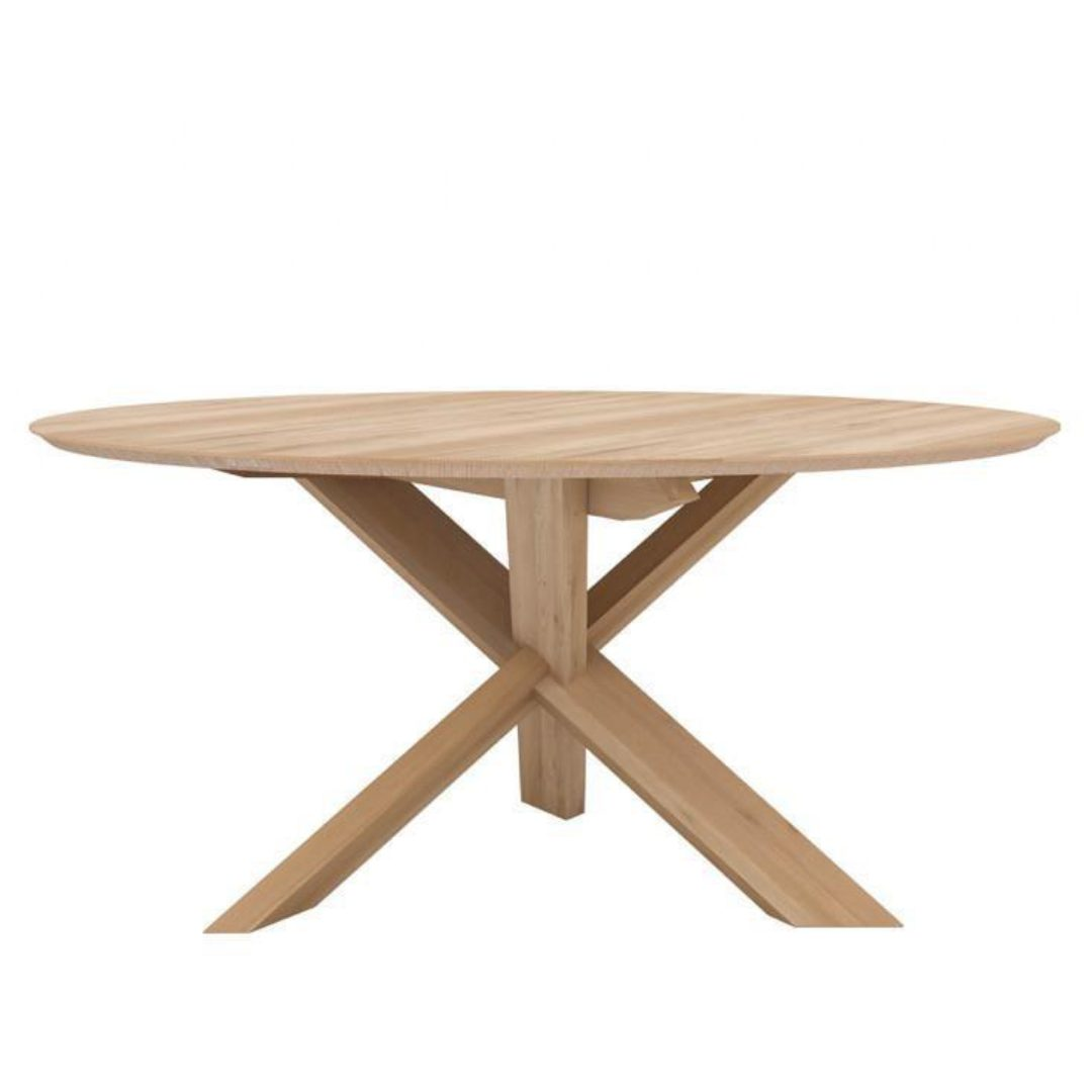 Oak Circle DT round table outdoor furniture darwin