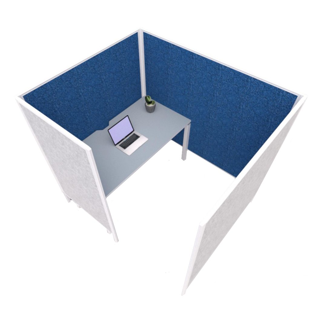 Podz 1 desk computer with divider wall commercial office furniture