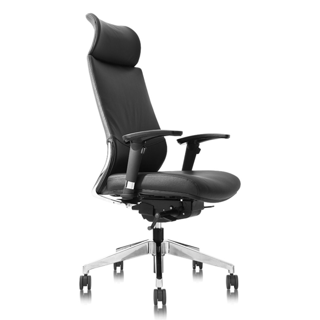 Veru HB Leather Chair ergonomic office chair australia darwin